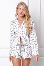 Serene flanel női pizsama, rövid