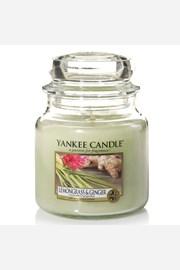 Yankee Candle gyertya Lemongrass Ginger, közepes