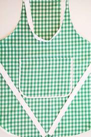 Kanafas konyhai kötény, zöld