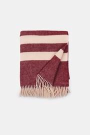 Stripe luxus gyapjú pléd, bordó