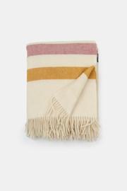 Stripe luxus gyapjú pléd, krémszínű