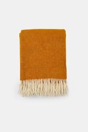 Luxus pléd új-zélandi gyapjúból, sárga