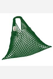 Rugalmas hálós táska, cseh termék, sötétzöld