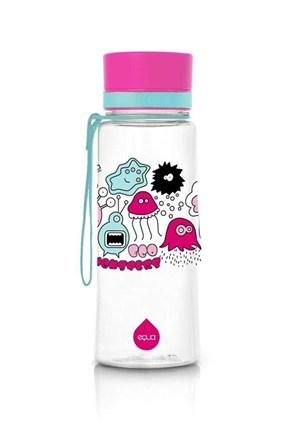 EQUA Pink Monsters műanyag palack, 600 ml