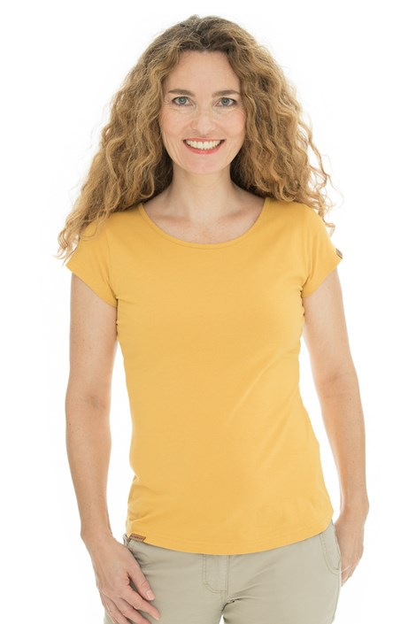 Bushman Natalie II sárga női póló