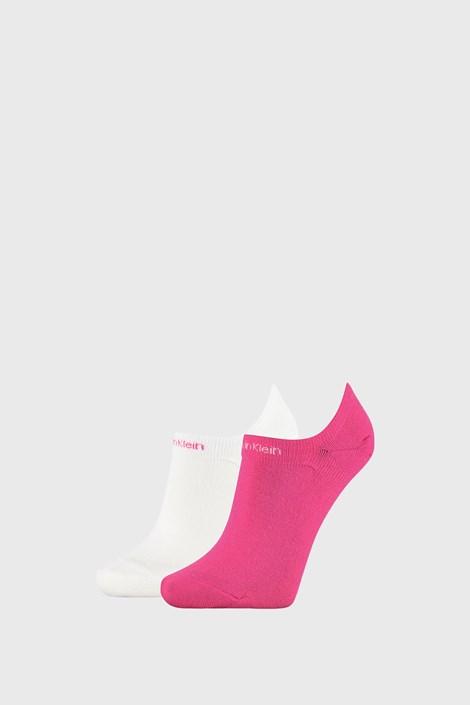 2 PÁR Calvin Klein Leanne női zokni, rózsaszín és fehér
