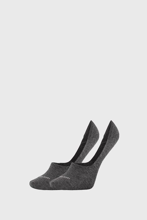 2 PÁR Calvin Klein Jessica szürke női zokni