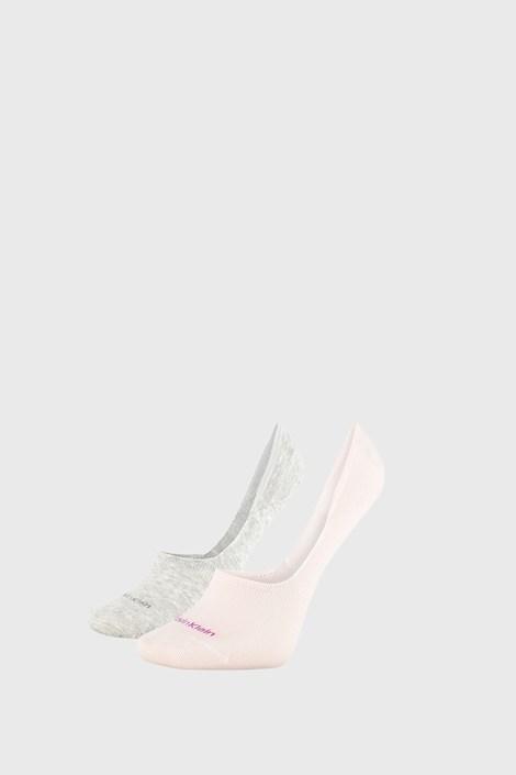 2 PÁR Calvin Klein Jessica női zokni, szürke és rózsaszín