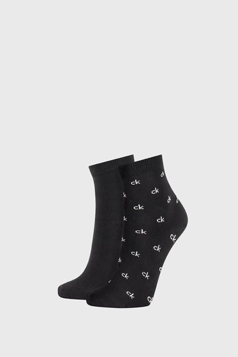 2 PÁR fekete női zokni Calvin Klein Gretchen