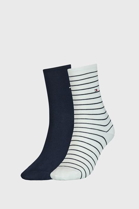 2 PÁR Tommy Hilfiger Stripes kék-fehér női zokni