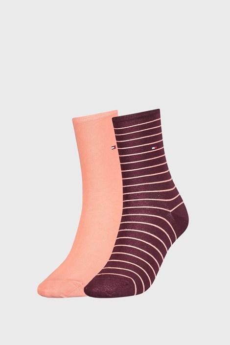 2 PÁR Tommy Hilfiger Stripes női zokni