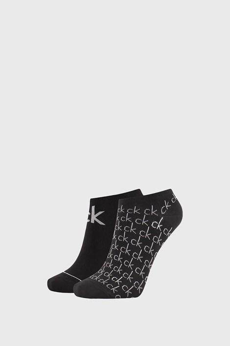 2 PÁR Calvin Klein Callie fekete női zokni