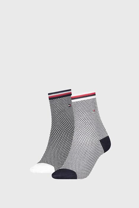 2 PÁR Tommy Hilfiger Honeycomb Navy női zokni
