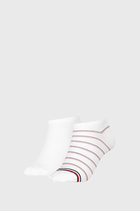 2 PÁR Tommy Hilfiger Preppy White női zokni