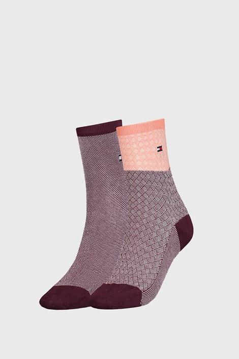 2 PÁR Tommy Hilfiger Argyle II női zokni