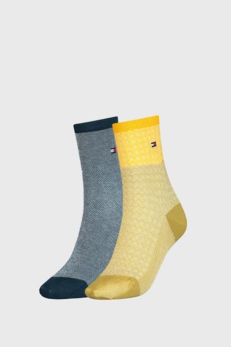 2 PÁR Tommy Hilfiger Argyle női zokni