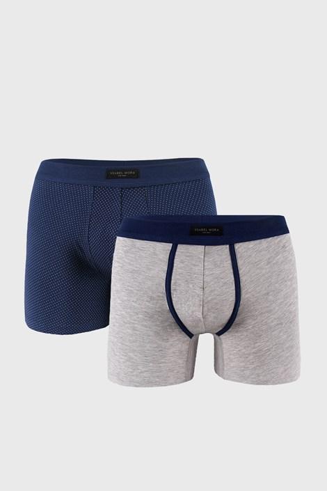 2 DB szürke-kék boxeralsó