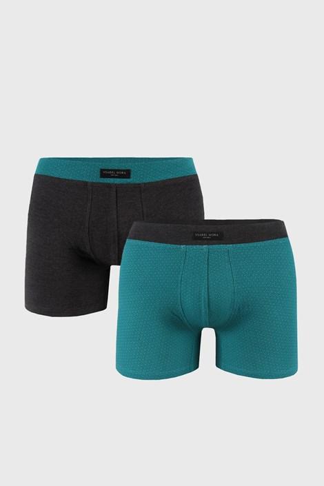 2 DB szürke-zöld boxeralsó