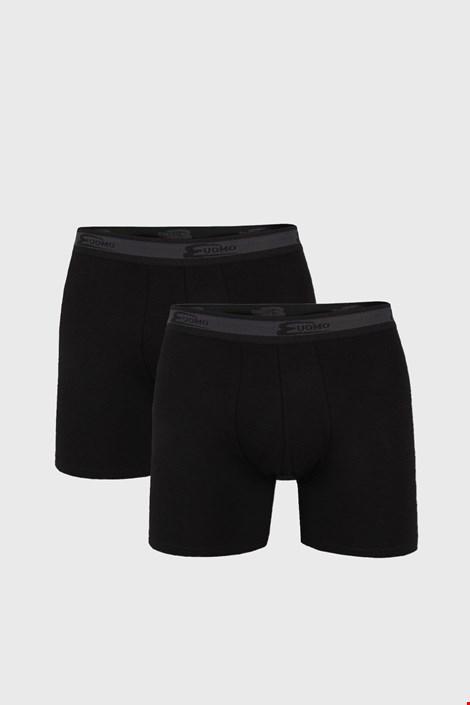 2 DB fekete boxeralsó, hosszabb szárakkal, UOMO