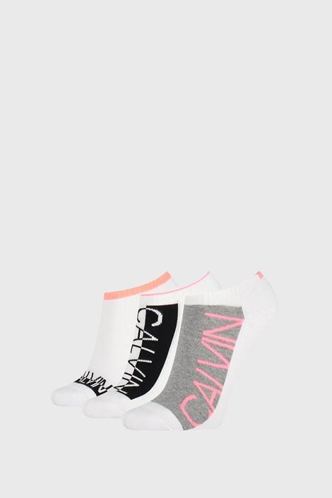 3 PÁR Calvin Klein Nola női zokni, fehér