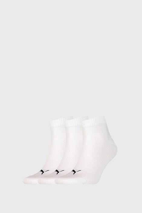 3 PÁR Puma Quarter Plain fehér zokni
