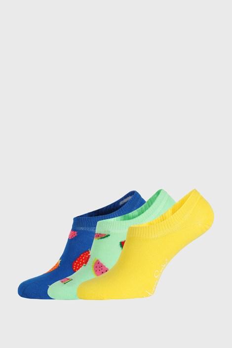 3 PÁR Happy Socks Fruits No Show zokni