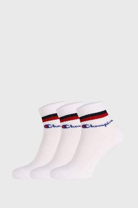3 PÁR fehér zokni Champion Classic stripes