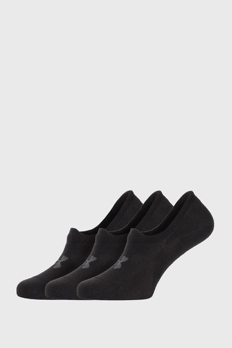 3 PÁR fekete rövid szárú zokni Under Armour