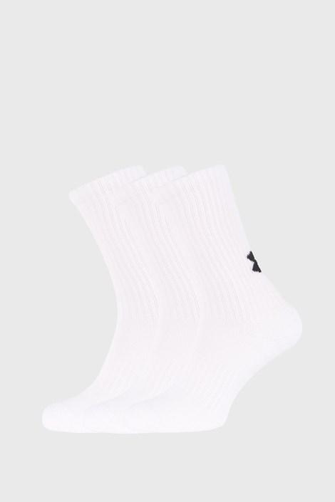 3 PÁR magas fehér zokni Core Under Armour