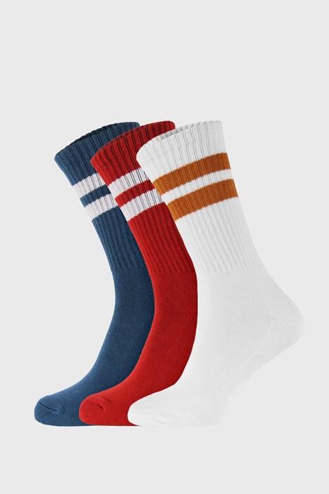 3 PÁR magasabb szárú színes zokni Active