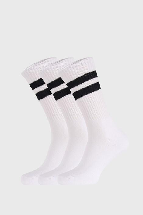 3 PÁR fehér zokni Active
