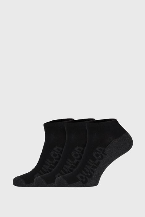 3 PÁR fekete zokni Dunlop