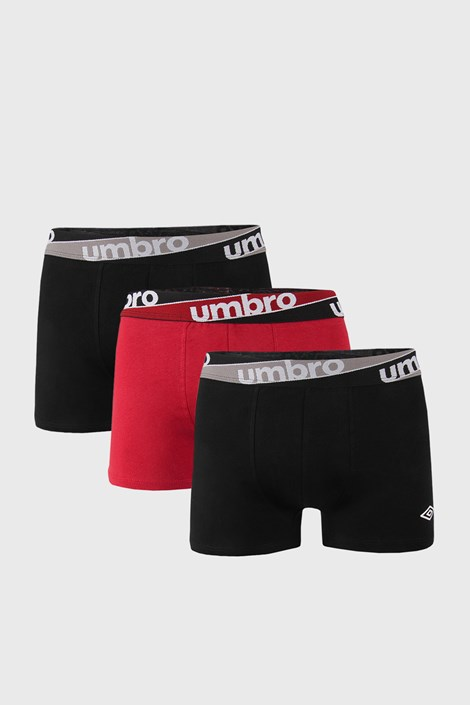 3 DB bordó-fekete boxeralsó Umbro