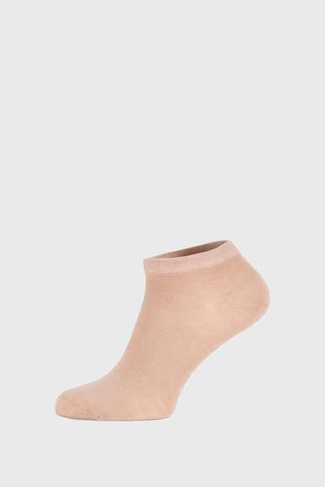 Bézs bambusz zokni, alacsony