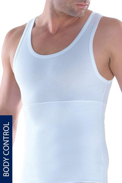 Alakformáló férfi alsó trikó kerek nyakkivágással, EXTRA NAGY MÉRET