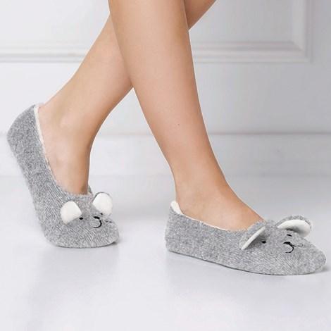 Meleg balerina papucs, macival
