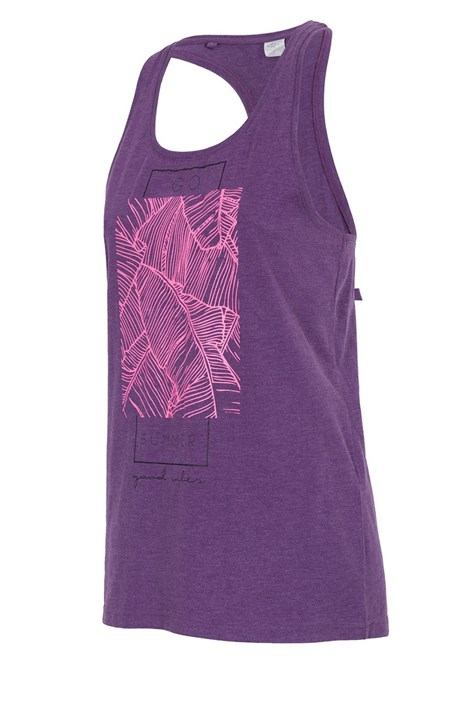 4f Purple ujjatlan női sportpóló