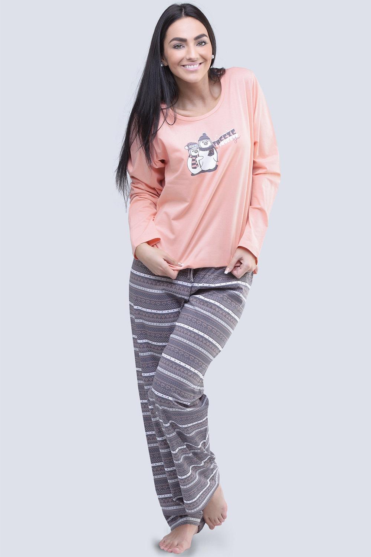 Penguin - női pamut pizsama  8e672ebe7c