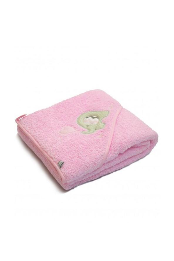 Blue Kids gyerek fürdőlepedő, rózsaszín elefánt