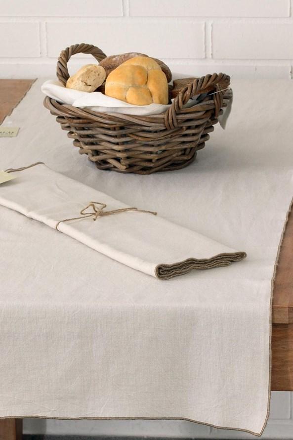 Home Design asztalközép díszszegélyekkel, bézs