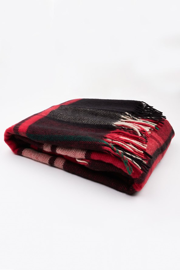 Luxus pléd új-zélandi gyapjúból, piros