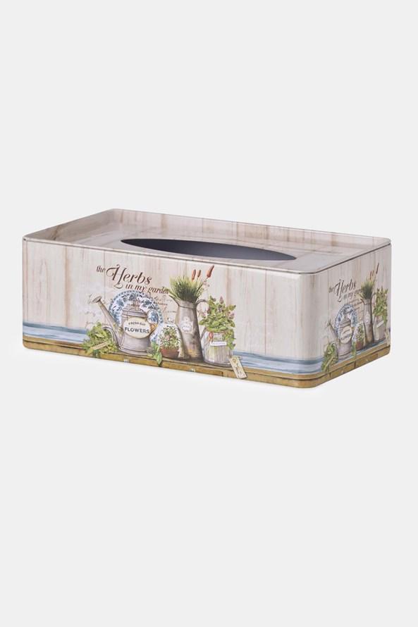 Zsebkendőtartó fém doboz Herbs