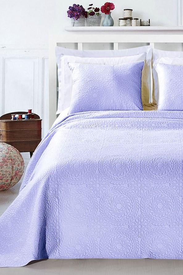 Elodie ágytakaró, világoslila