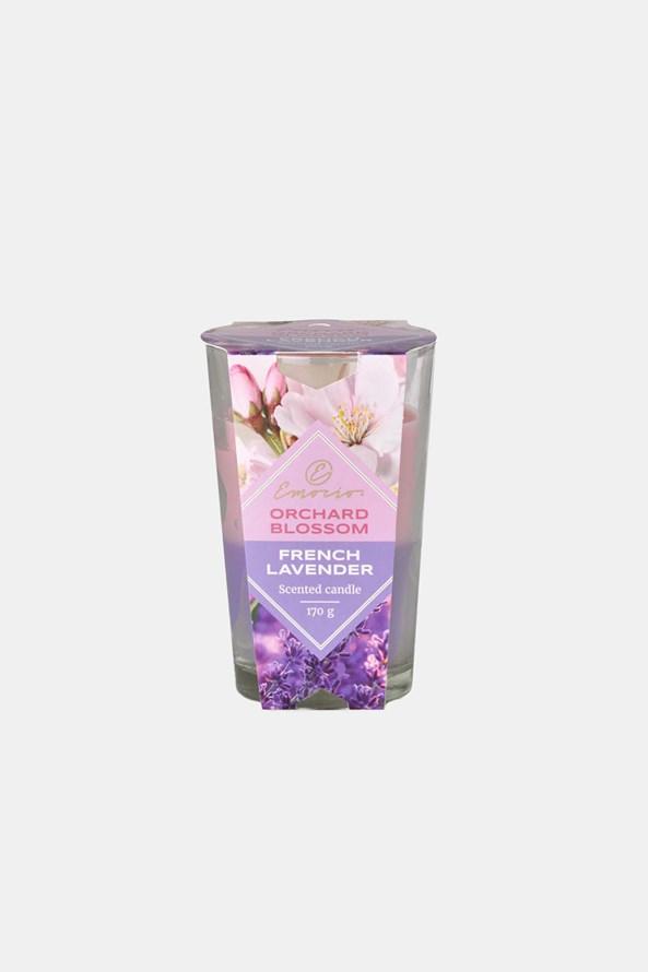 Orchard Blossom and French Lavender illatos gyertya, kétszínű