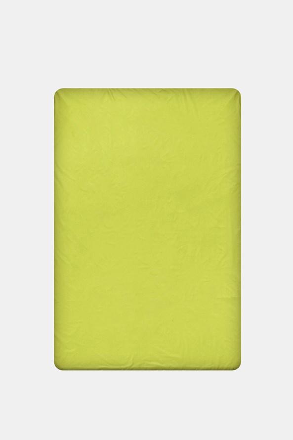Gumírozott szélű pamut lepedő, zöld