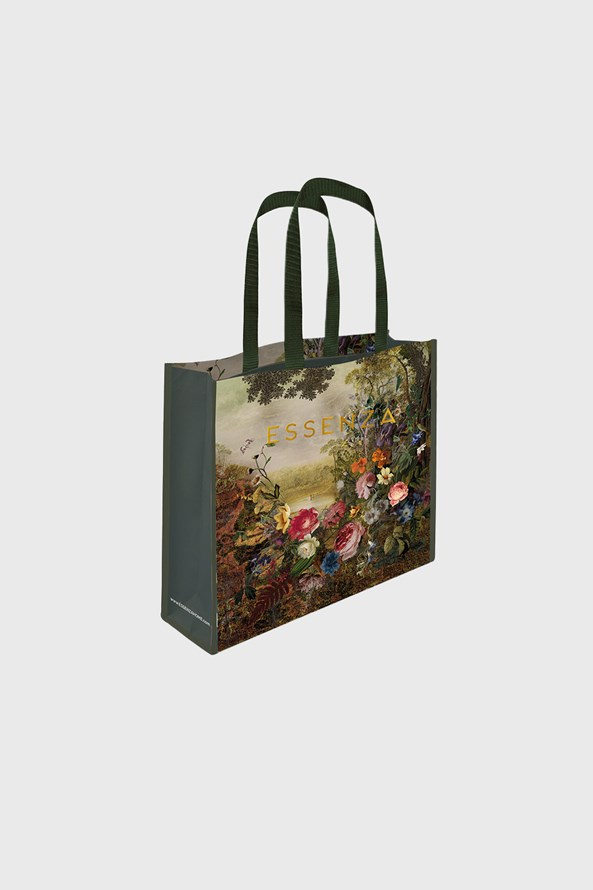 Essenza Home Florence Green bevásárló táska