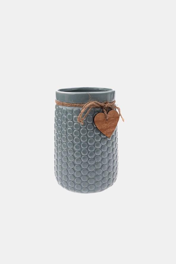 Kerámia váza, szürke