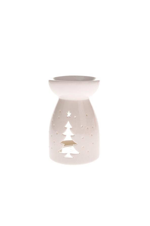 Porcelán aromalámpa karácsonyfával