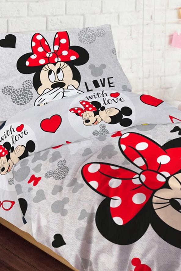 Minnie Loves lányka ágyneműhuzat