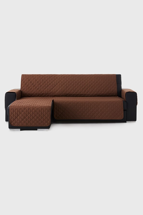 Moorea bútorhuzat sarokkanapéra, barna - bal oldali